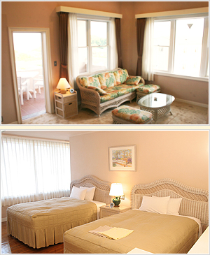2人だけのプライベートな空間を、広々と贅沢に過ごしたい。そんなご要望にぴったりのプレミアムツインルーム。