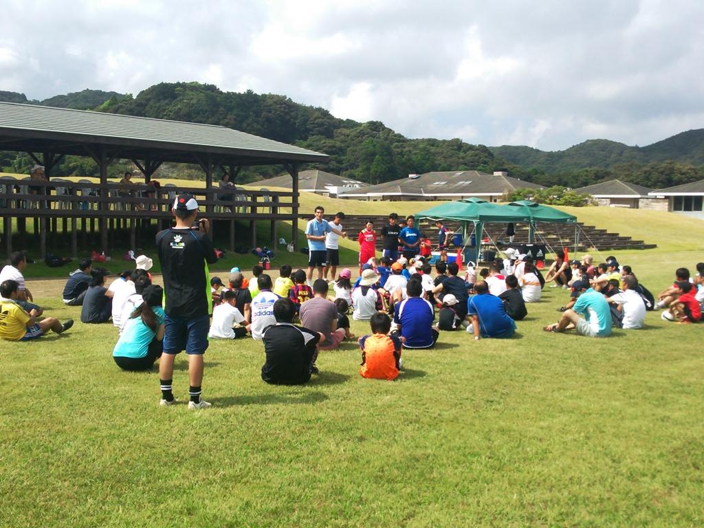 「8月19日 親子サッカー教室開催」
