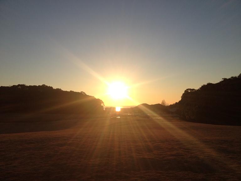 「2014年1月25日 ~ ノースヒル・研修棟前から見える朝陽 ~ 」