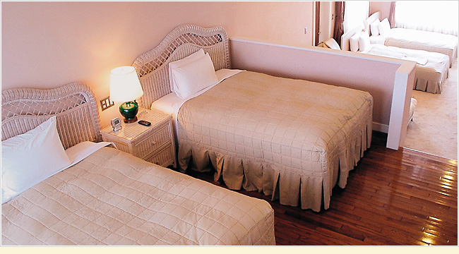 Want to stay with the whole family or all your friends together in a room...A quad room can satisfy such a request.