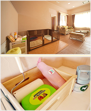 The best luxurious space to spend time with your pet.Premium twin room where you can stay with your pet.