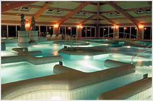 THERMES MARINSs famous13 different zones and heated seawater pool